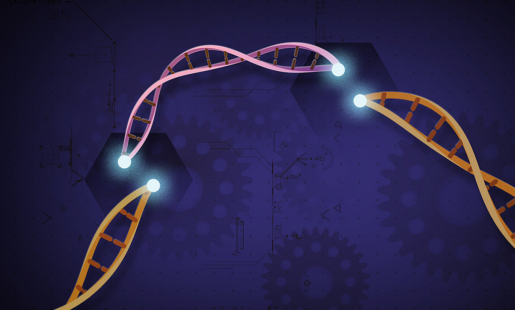 Graphic of DNA strands